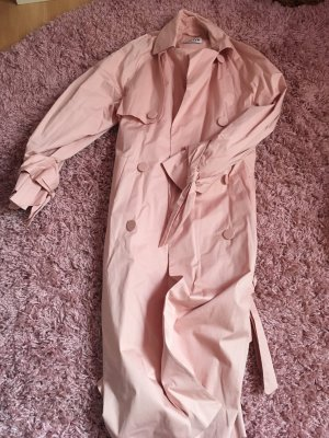 Blogger Trenchcoat von Edited,  Trenchcoat rosa, rosa Mantel, Blogger Mantel