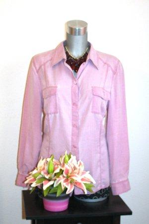 Blogger Vintage Bluse gr.42 Rose Silber Nieten