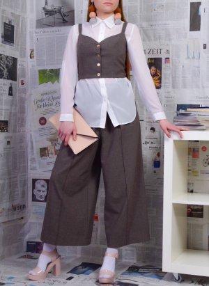 Blogger Weste und Wide Leg Hose als Set Handmade Größe S/M