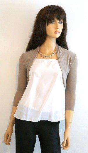 Zara Boléro en tricot beige viscose