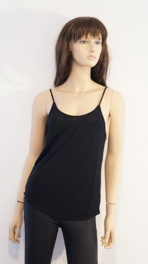 Zara Backless Top black viscose