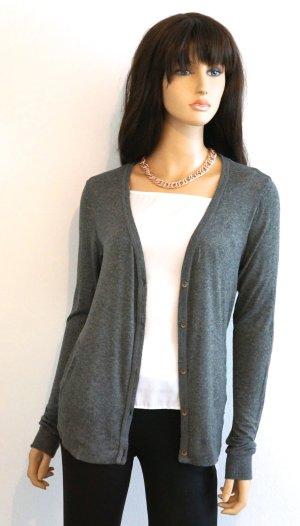 *Blogger Wunderschön Neu Cardigan Ellbogenpads Top Shirt Pullover Blazer Jacke
