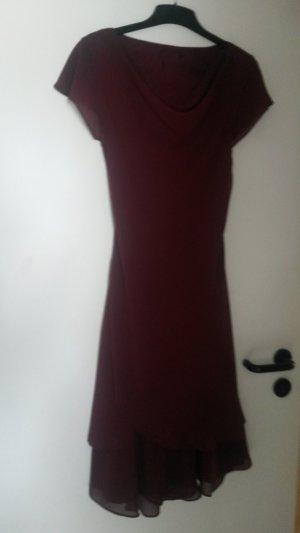 Zero Robe de bal bordeau-rouge foncé viscose