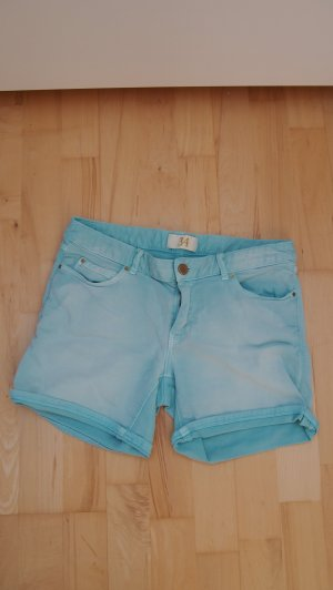 blogger Zara Highwaist summer Shorts destroyed Look türkis Festival Hippie