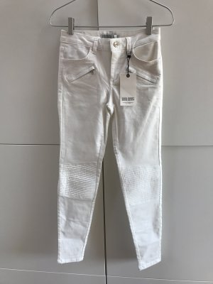 Blogger Zara Jeans Mid Waist Skinny Biker Stil mit Reisverschlüssen Gr. 34 / XS - NEU mit Etikett!