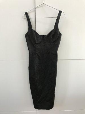 Blogger ZARA Kleid Abendkleid Schwarz glänzender Stoff Gr. 34 / XS - NEU und ungetragen!
