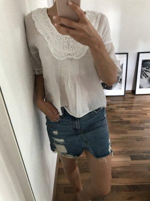 Zara Blouse à manches courtes blanc