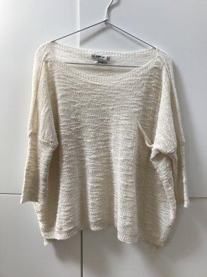 Blogger ZARA Leichter Pulli Pullover Creme Weiß Gr. 36 / S - NEU und ungetragen!