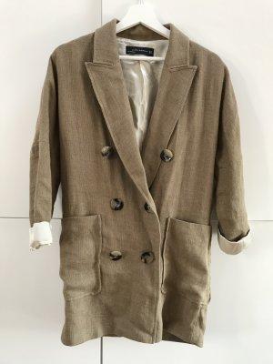 Zara Lange blazer bruin