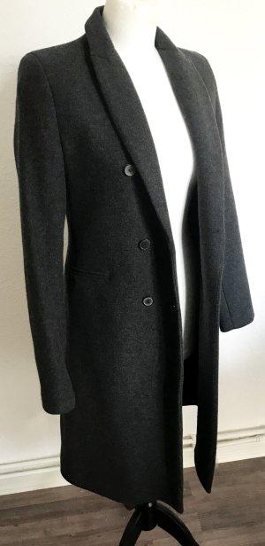 Zara Manteau gris-gris foncé