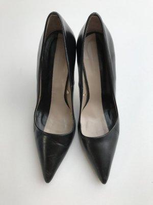 Blogger ZARA Pumps High Heels Echtleder Schwarz - nur einmal getragen!