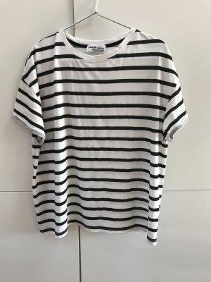 Zara T-shirt blanc-noir