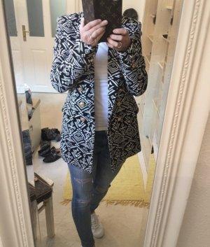 Edited x Lena Terlutter Blazer en laine noir-blanc cassé