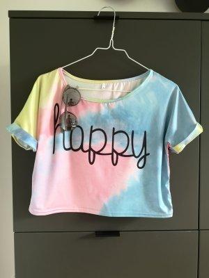 Camiseta rosa-amarillo claro