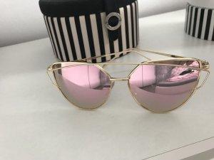 Bloggersonnenbrille Roségold Neu Sonnenbrille