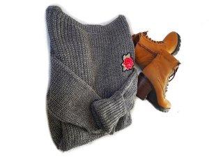#Bloggerstyle #Pullover Long / #Pulloverkleid, Rose bestickt Einhgrösse SALE%