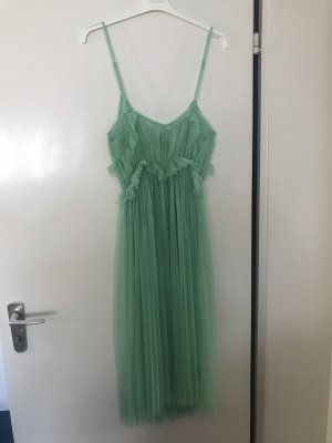 Bloggerstyle Tüllkleid Mintgrün Kleid aus Tüll Tutu Mango Midikleid grün pastell