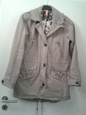 Blonde No. 8 Abrigo de invierno gris claro-color plata Algodón