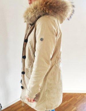 Blonde No. 8 Echtfell Winterjacke in Beige
