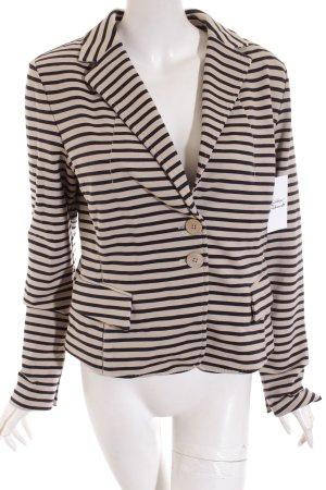Blonde No. 8 Jersey blazer beige-donkerblauw gestreept patroon