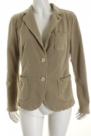 Blonde No. 8 Jerseyblazer sandbraun-goldfarben Casual-Look
