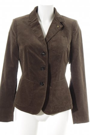 Blonde No. 8 Korte blazer donkerbruin klassieke stijl