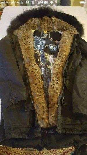 Blonde No. 8 Giacca di pelliccia nero-marrone