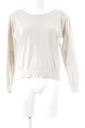 Blonde No. 8 Jersey de cuello redondo beige claro look casual