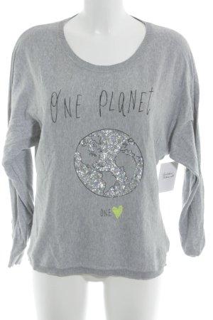 Blonde No. 8 Kraagloze sweater prints met een thema casual uitstraling