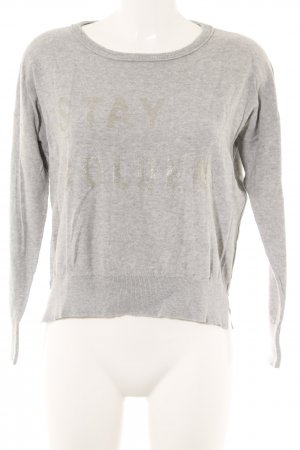 Blonde No. 8 Crewneck Sweater silver-colored-light grey printed lettering