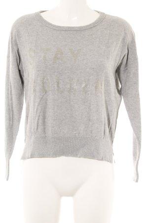 Blonde No. 8 Kraagloze sweater zilver-lichtgrijs gedrukte letters