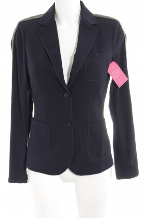 Blonde No. 8 Blazer de esmoquin azul oscuro-color plata elegante