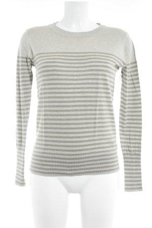 Blonde No. 8 Knitted Sweater oatmeal-ocher striped pattern casual look