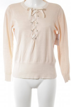 Blonde No. 8 Knitted Sweater light pink simple style