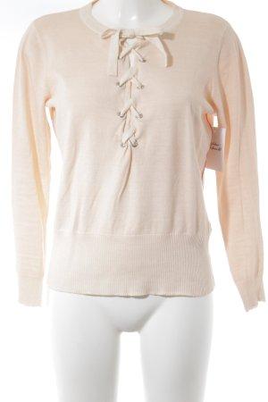 Blonde No. 8 Jersey de punto rosa claro estilo sencillo
