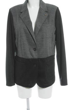 Blonde No. 8 Unisex blazer zwart-grijs gestippeld patroon elegant