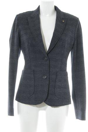 Blonde No. 8 Blazer de lana azul oscuro-gris estampado a cuadros look casual