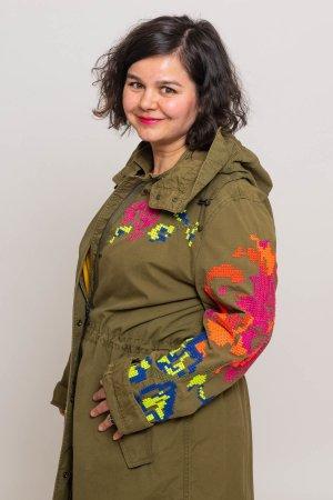 Blonde Nr.8 Jacke mit handgemachte Stickerei Gr.46