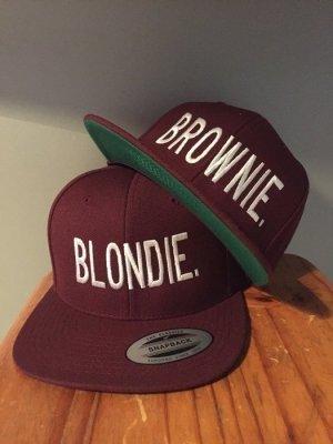 Blondie&Brownie Snapback Neu Weinrot