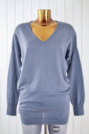 Bloom Sweater pale blue-slate-gray wool