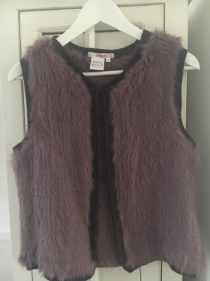 Bloom Fur vest grey lilac-brown violet