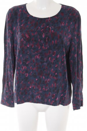 Bloom Long Sleeve Blouse red-dark blue abstract pattern casual look