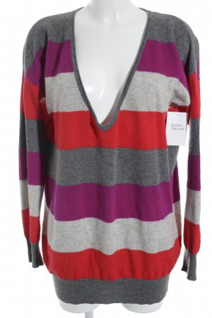 Bloom Long Sweater color blocking casual look