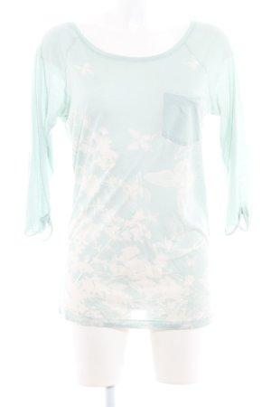 Bloom Longsleeve graugrün-hellbeige Allover-Druck Casual-Look