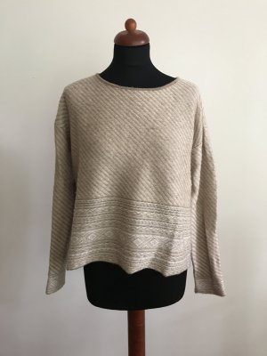 Bloom Kraagloze sweater lichtbruin-licht beige