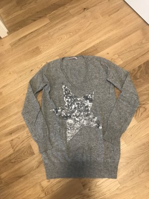 Bloom Jersey de lana color plata Lana