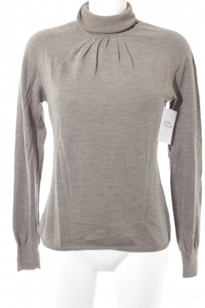 Bloom Turtleneck Sweater grey brown flecked casual look