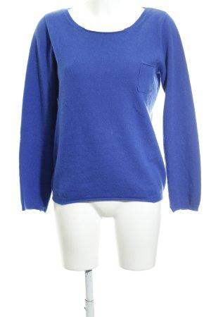 Bloom Kraagloze sweater blauw Sterrenpatroon casual uitstraling