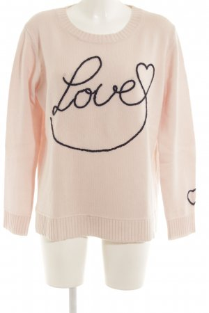 Bloom Crewneck Sweater pink embroidered lettering college style