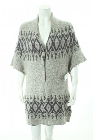 Bloom Knitted Cardigan abstract pattern fluffy